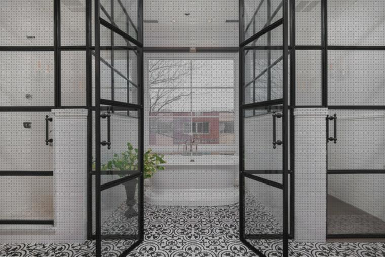 Picaporte para puerta KOTARBAU 90 mm, para interior y exterior color negro